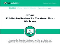 Wow!  We're getting great reviews on Trip Advisor